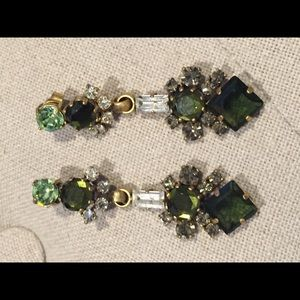 Gorgeous green J Crew earrings perfect for holiday